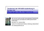 Tendenzen der HIV/AIDS-Ausbreitung in Europa ... - Caritas-Europa