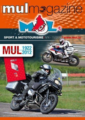 SPORT & MOTOTOURISME IN°4 - 11/2012 I www.mul.lu