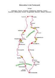 Motorradtour in den Frankenwald
