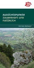 Broschüre Aussichtspunkte - Oberfranken