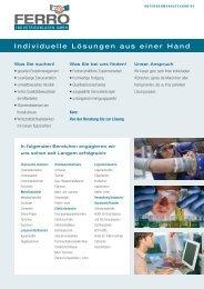 Steckbrief PDF - Ferro Industrieanlagen GmbH