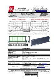 Band Reject Filter - Helmut Singer Elektronik