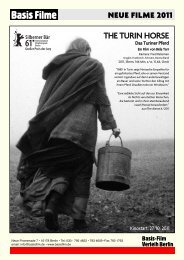 NEUE FILME 2011 THE TURIN HORSE - Basis-Film Verleih Berlin