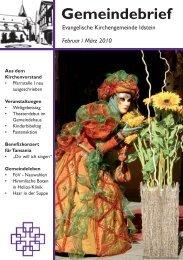 Gemeindebrief, Ausgabe Februar/März 2010 - Evangelische ...