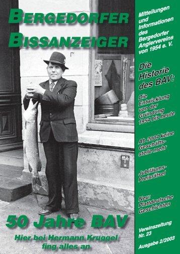 "ANGLERBALL ""50 JAHRE BAV"" - Bergedorfer Anglerverein"