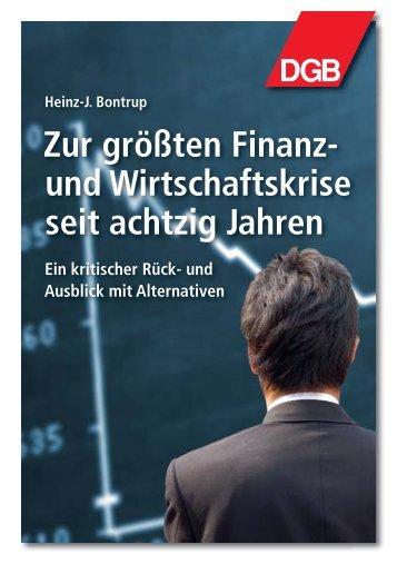 Zur größten Finanz- und Wirtschaftskrise seit ... - NachDenkSeiten