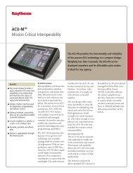 ACU-MTM Mission Critical Interoperability - Raytheon