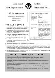 2008 - Gesellschaft zur Hilfe für Kriegsveteranen in Russland