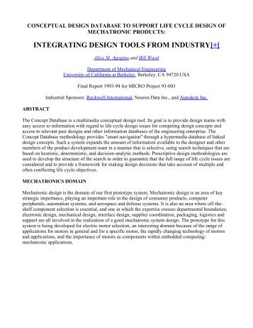 integrating design tools from industry[+] - Berkeley Expert Systems ...