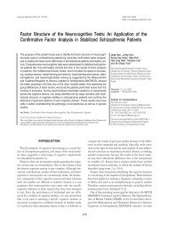 Factor Structure of the Neurocognitive Tests - KoreaMed Synapse