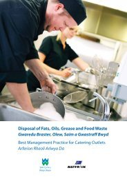 Disposal of Fats, Oils, Grease and Food Waste - Dŵr Cymru Welsh ...