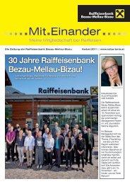 30 Jahre Raiffeisenbank Bezau-Mellau-Bizau! - Raiffeisen Bezau ...