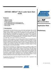 XMEGA™ Boot Loader Quick Start Guide - Atmel Corporation