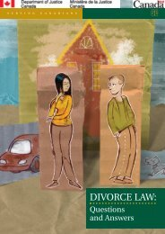Divorce Law: Questions and Answers - Justice