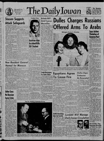 August 31 - The Daily Iowan Historic Newspapers - University of Iowa
