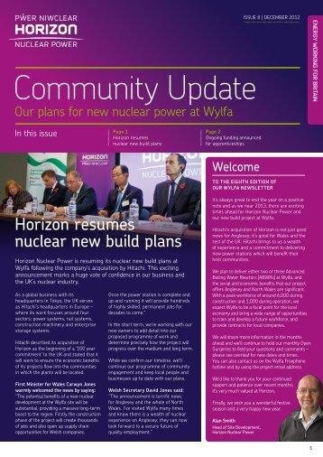 Cylchlythyr Rhagfyr 2012 - Horizon Nuclear Power