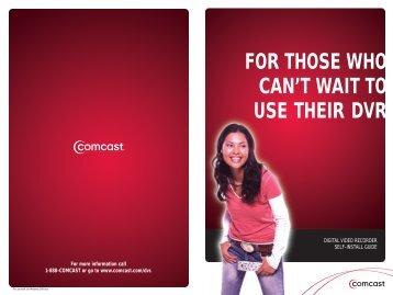 Motorola DVR Self Install Guide - Comcast