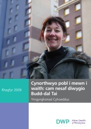 Cynorthwyo pobl i mewn i waith - Department for Work and Pensions