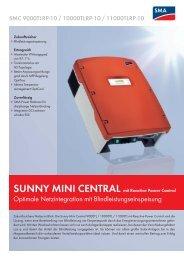Sunny Mini Central 9000TLRP / 10000TLRP ... - PVT-Austria