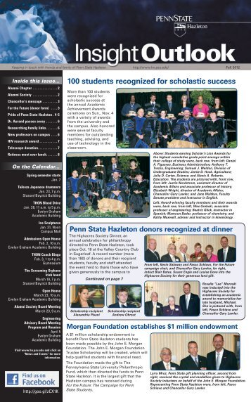 100 students recognized for scholastic success - Penn State ...