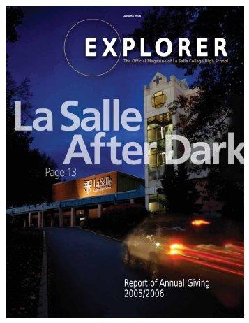 EXPLORER - La Salle College High School