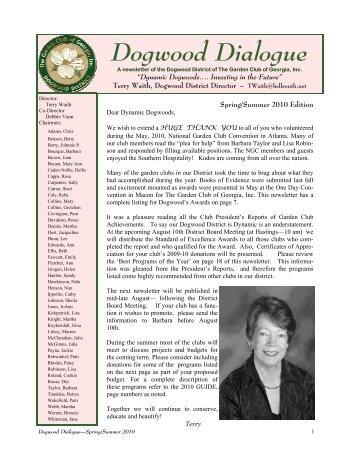 1 Dogwood Dialogue - University of Georgia