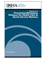 Preventing Workplace Violence for Health Care & Social ... - OSHA