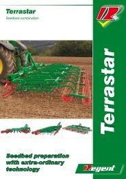 Seedbed combinations with exact depth guidance care for ... - Regent