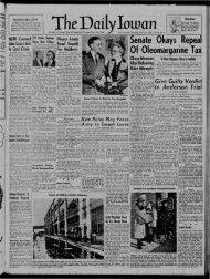 The Daily Iowan Historic Newspapers - University of Iowa
