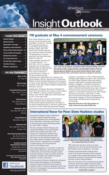118 graduate at May 4 commencement ceremony - Penn State ...