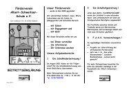 Beitrittserklärung - Förderverein Albert-Schweitzer-Schule - Ginsheim