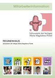 REGINENHAUS - Mitarbeiterinformation-Pflege