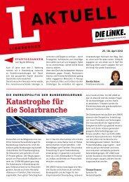 L-Aktuell 04 / 2012 - Die Linke. - Brandenburg.de