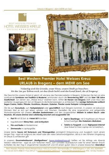 Best Western Premier Hotel Weisses Kreuz URLAUB in Bregenz ...