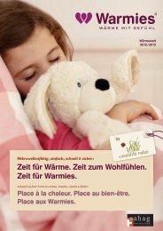 Wärme- und Wohlfühlspender Katalog 2012/2013 - Sahag AG