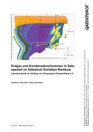 Studie: Gas und Kondensatvorkommen im Salzstock ... - Greenpeace