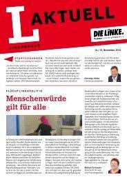 L-Aktuell 11 / 2012 - Die Linke. - Brandenburg.de