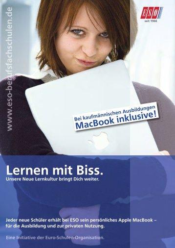 Flyer zu der Nutzung des MacBooks - ESO