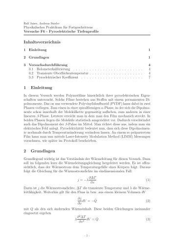 Inhaltsverzeichnis 1 Einleitung 2 Grundlagen