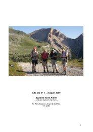 Dolomiten Höhenweg 'Alta Via Nr. I' - Aktiv am Berg