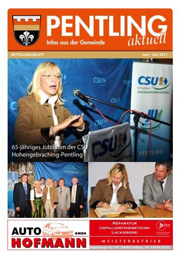 65-jähriges Jubiläum der CSU Hohengebraching ... - Pentling aktuell