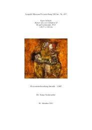 Dossier Egon Schiele Mutter mit zwei Kindern II - Leopold Museum