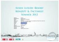 Susesı Luxury Resort Konzept & Factsheet Sommer 2012 - Susesi