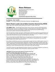 News Release - Ohio High School Athletic Association