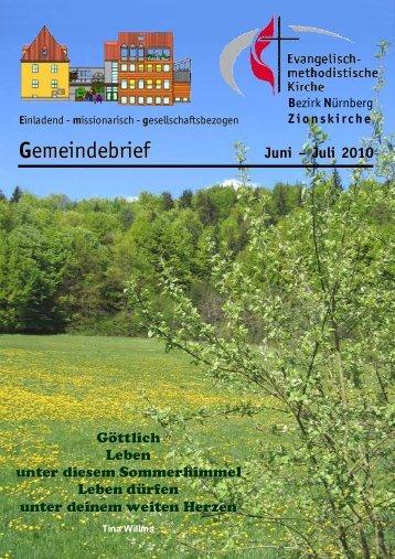Gemeindebrief Jun-Jul 2010.DOC - Zionsgemeinde
