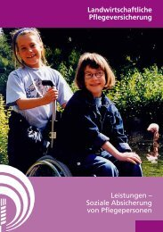 Soziale Absicherung von Pflegepersonen - LSV