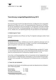 Taxordnung Langzeitpflegeabteilung 2013 - Kantonsspital Uri