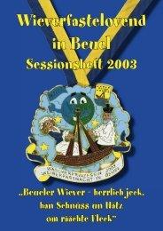 Sessionsheft 2003 (2,4 MB) - Beueler Wäscherprinzessin