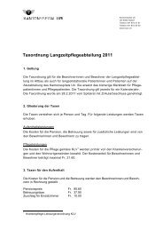Taxordnung Langzeitpflegeabteilung 2011 - Kantonsspital Uri