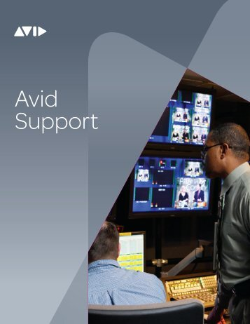 Download the Avid Support Brochure - Avid Technology